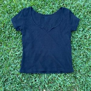 Black notch top brandy melville